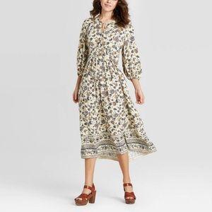 Universal Threads Floral Print Long Sleeve Dress